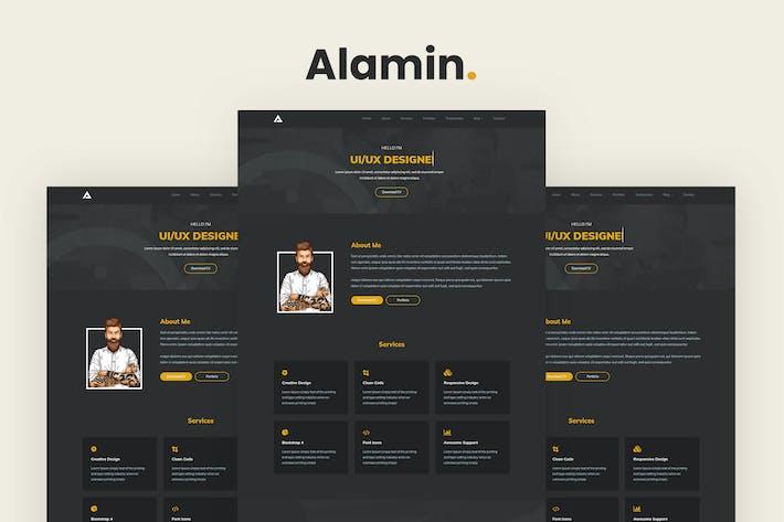 Thumbnail for Alamin - One Page Portfolio