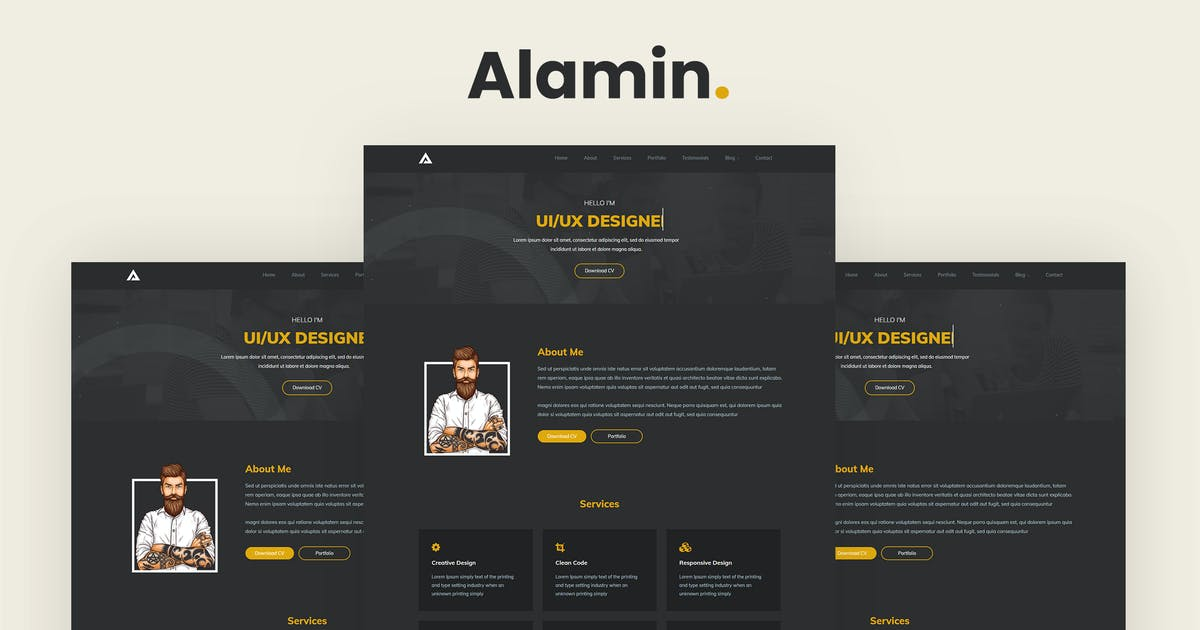 Download Alamin - One Page Portfolio by Brex-Theme