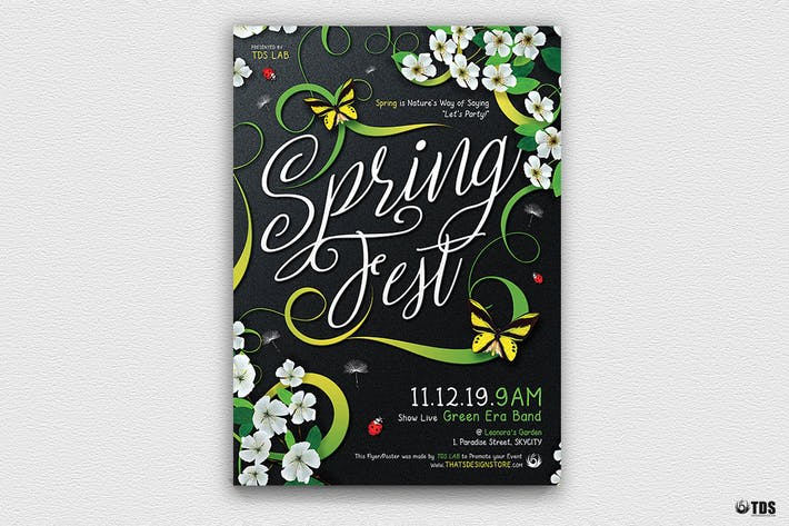Thumbnail for Spring Fest Flyer Template