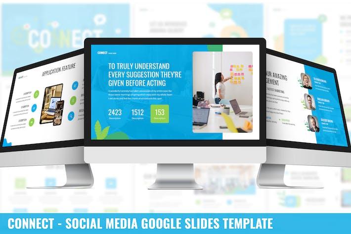 Thumbnail for Connect - Social Media Google Slides Template