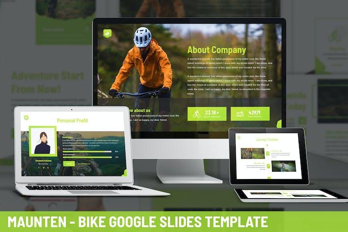 Thumbnail for Maunten - Bike Google Slides Template