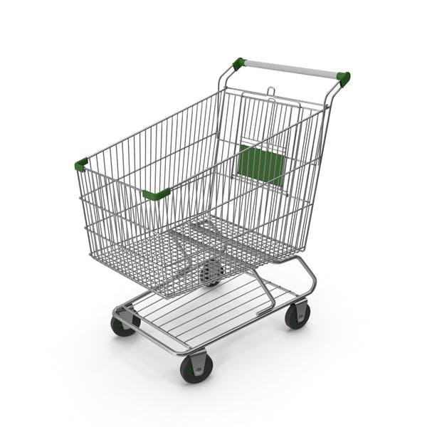 Shopping Сart with Green Plastic