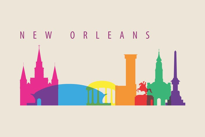 Thumbnail for New Orleans, Skyline, USA