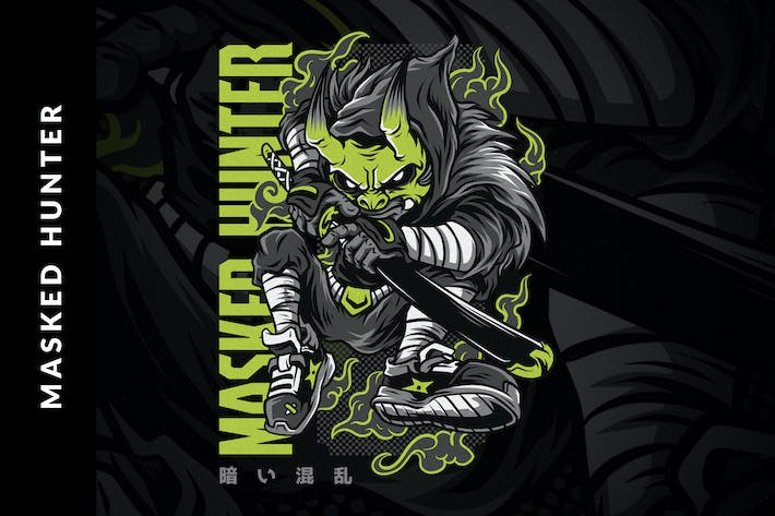 Thumbnail for Masked Hunter T-Shirt Design