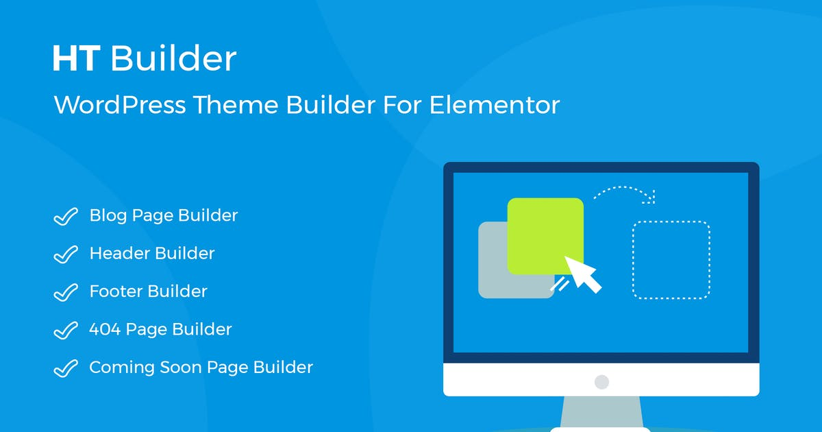Download HT Builder Pro - WordPress Theme Builder for Eleme by codecarnival