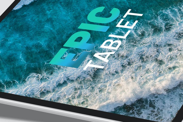 Thumbnail for Isometric Floating iPad - Mockup