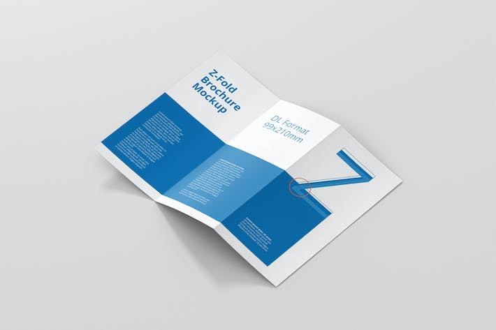 Thumbnail for DL Z-Fold Brochure Mockup - 99x210mm