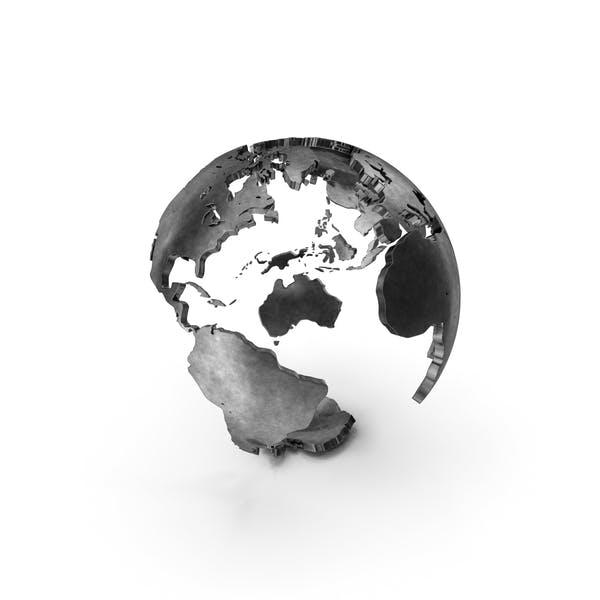 Globus mit Kontinenten