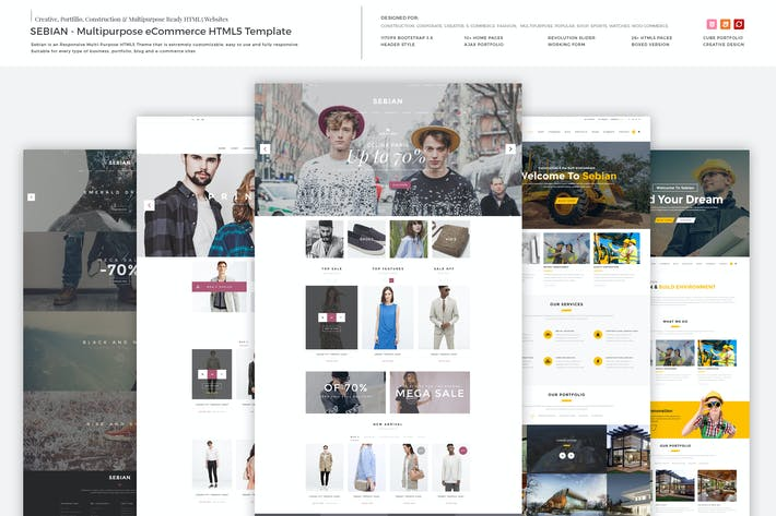 Thumbnail for SEBIAN - Multipurpose eCommerce HTML5 Template