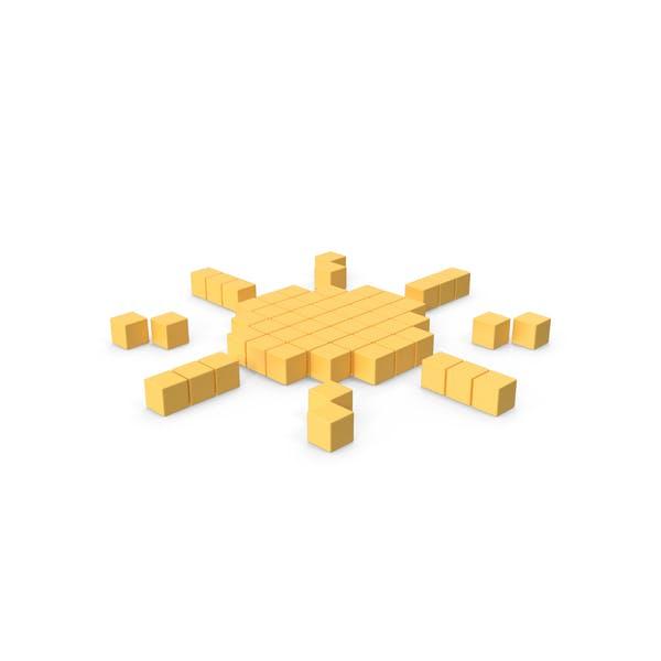 Пиксельный значок солнца