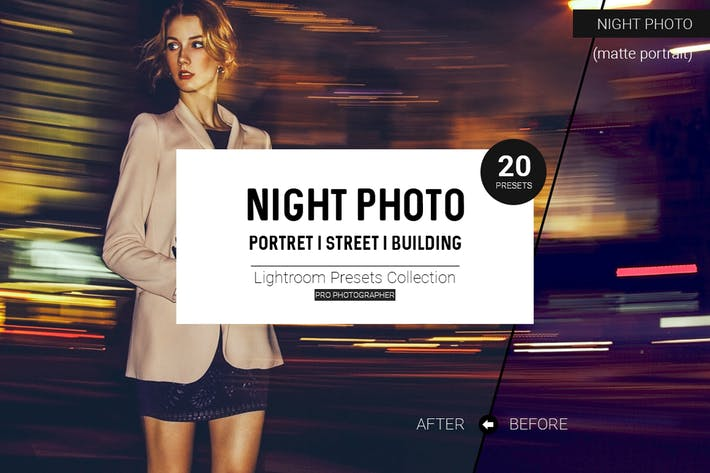 Thumbnail for Night Photo Lightroom Presets