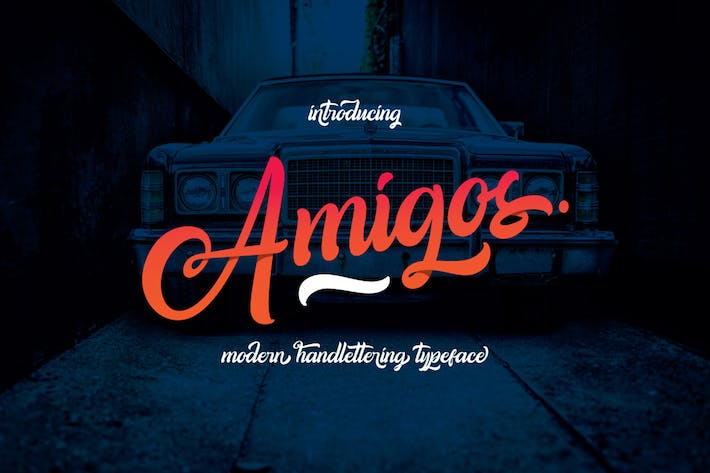 Thumbnail for Amigos Typeface