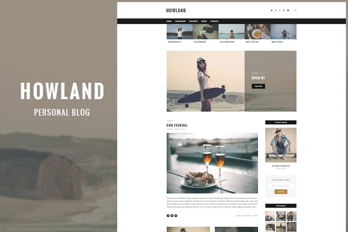 Thumbnail for Howland - Personal Blog PSD Template