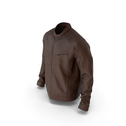 Mens Leather Jacket  Brown