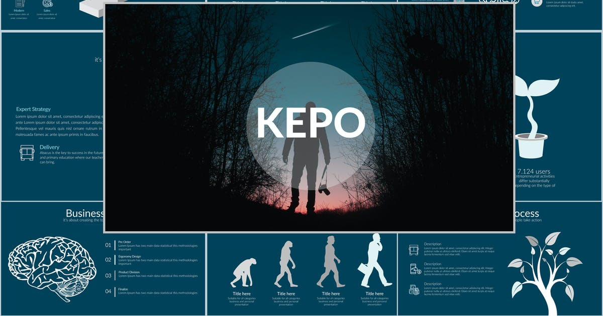 Download KEPO Powerpoint Template by Unknow