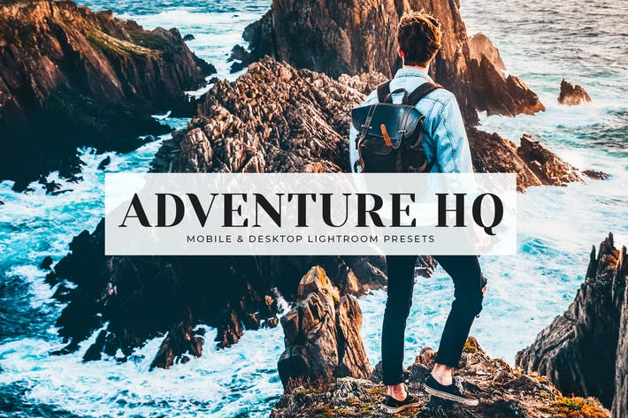 Cover Image For Adventure HQ Mobile & Desktop Lightroom Presets