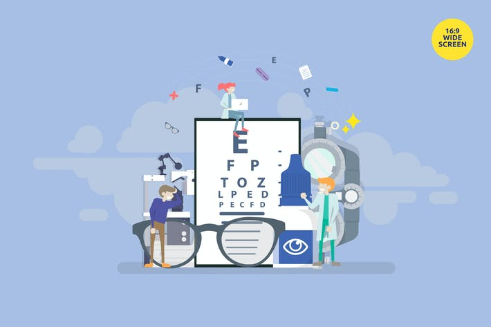 Thumbnail for Medical Ophthalmologist Eye Check Up Vector 3