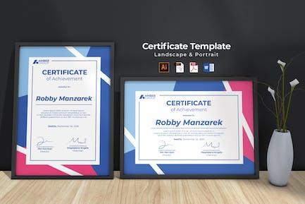 Multipurpose Professional Certificate Template