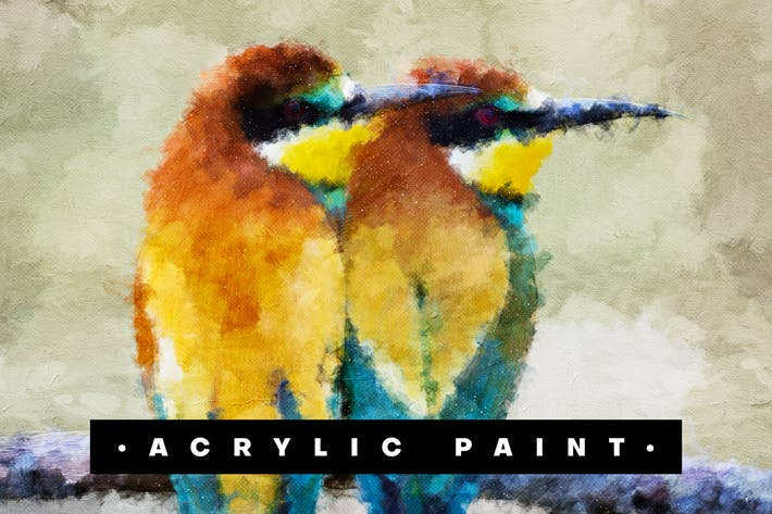 Thumbnail for Acrylic Paint Photoshop Action
