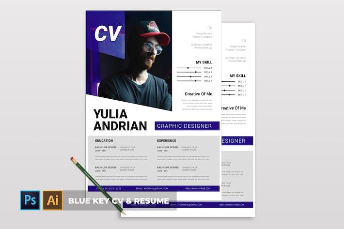 Thumbnail for Blue Key | CV & Resume