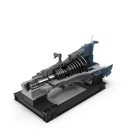 Cross Section of Steam Turbine