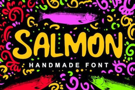 Salmon Fancy Font