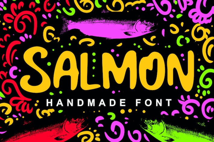 Thumbnail for Salmon Fancy Font