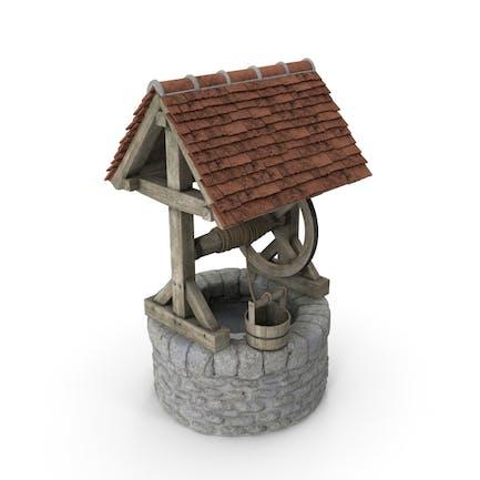 Pozo de agua de piedra medieval
