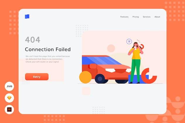 Connection Failed - Website Header - Illustration