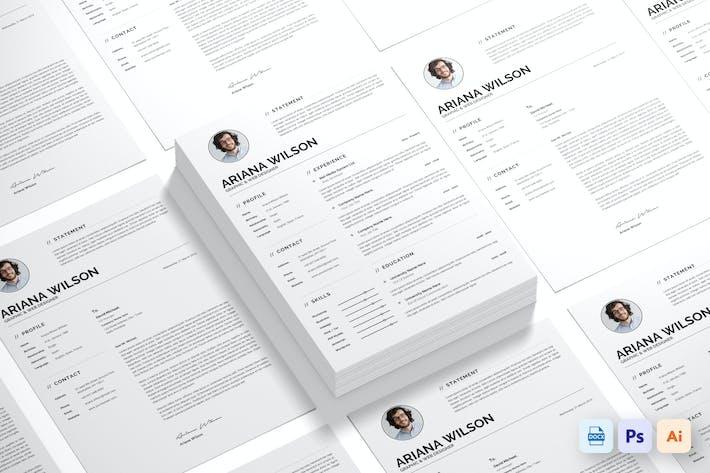Thumbnail for Clean Resume CV