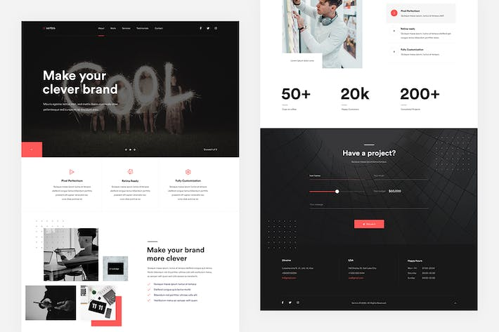 Thumbnail for Vertos — Digital Agency Template