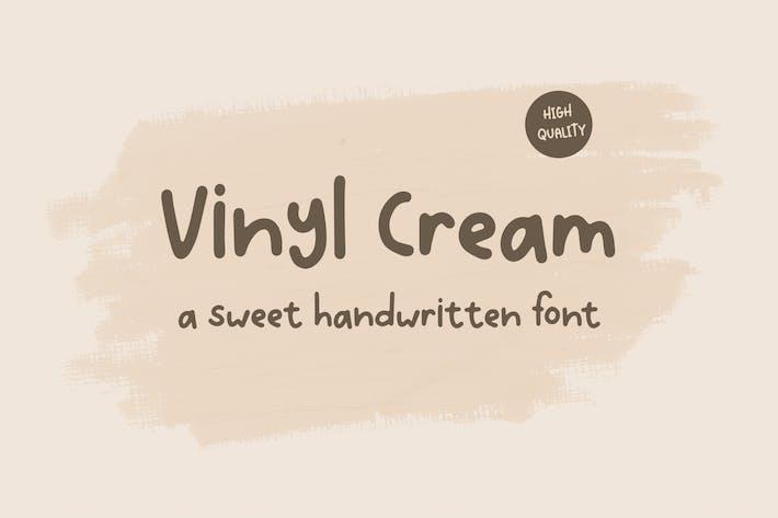 Vinyl Cream - Une douce police manuscrite