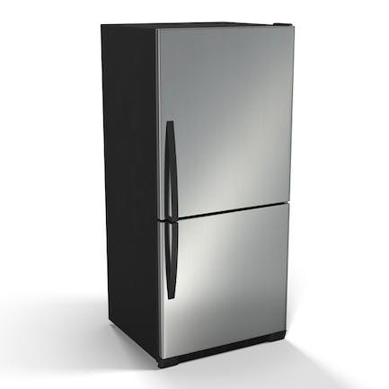 Edelstahl-Kühlschrank