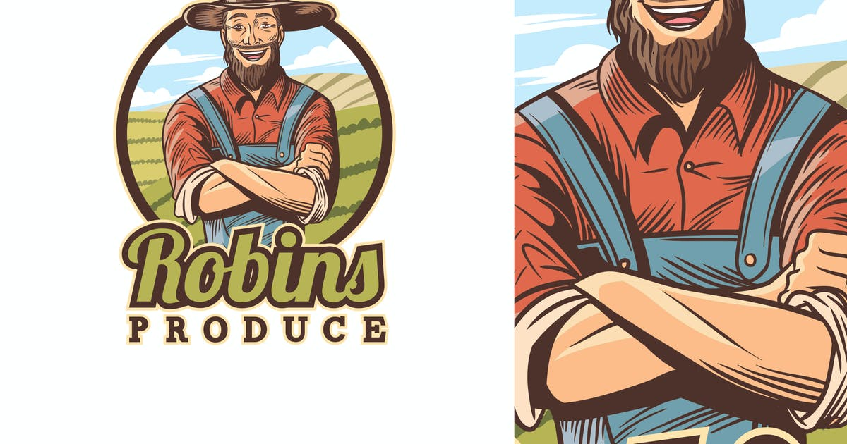 Download Old Farmer Character Mascot Logo by Suhandi