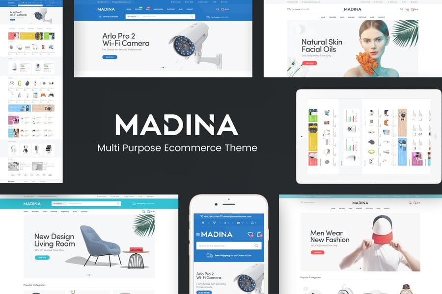 Madina - Multipurpose Responsive Prestshop Theme - product preview 0