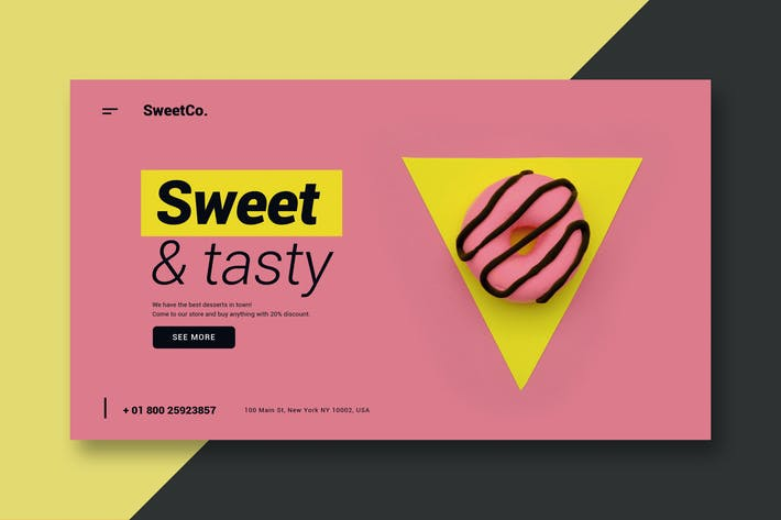 Thumbnail for Sweet & Tasty - Landing Page