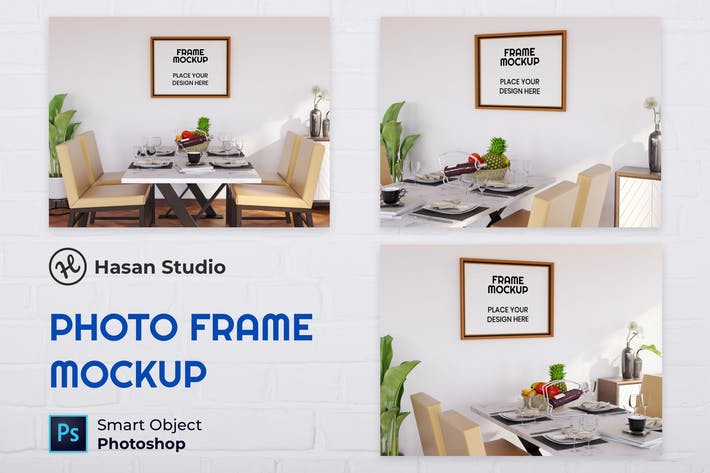 Thumbnail for Blank Photo Frame Mockup - Nuzie