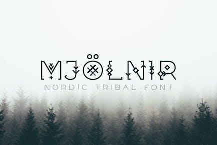 Mjölnir - Nordic Tribal Font