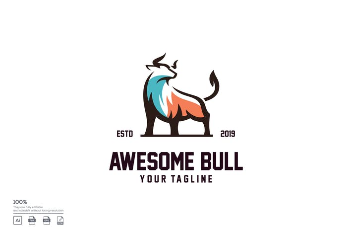Thumbnail for bull logo design