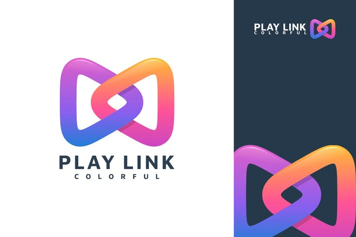 Thumbnail for PLAY LINK ABSTRACT COLORFUL LOGO TEMPLATE