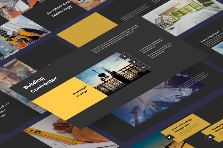 Thumbnail for Bilder - Bauunternehmer PräsentationsVorlage