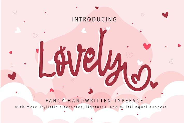 Thumbnail for Lovely   Fancy Handwritten Typeface