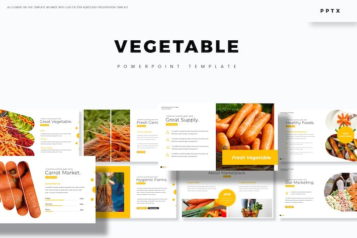 Thumbnail for Vegetable - Powerpoint Template
