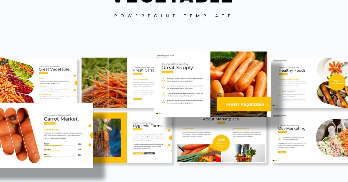 Download Vegetable - Powerpoint Template by aqrstudio