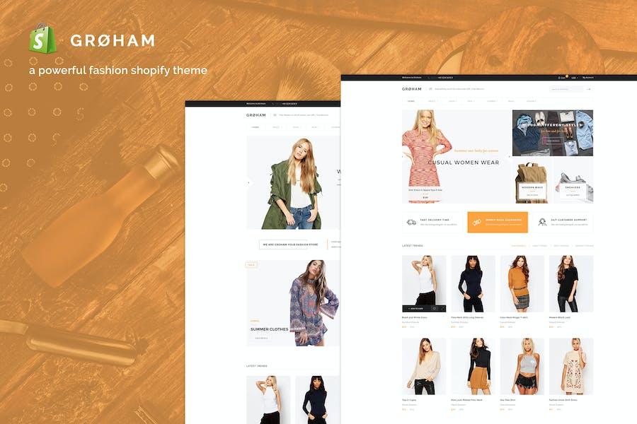 Groham - Мода электронной коммерции Shopify Тема