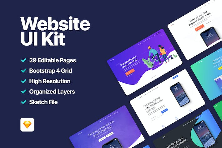 Thumbnail for vApp - Website UI Kit