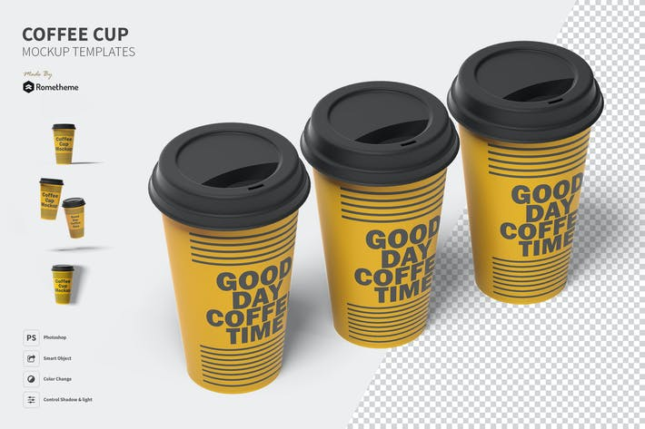 Thumbnail for Coffee Cup Mockup Set FH