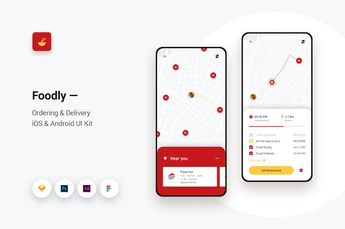 Thumbnail for Foodly - Ordering Delivery iOS & Android UI Kit 9