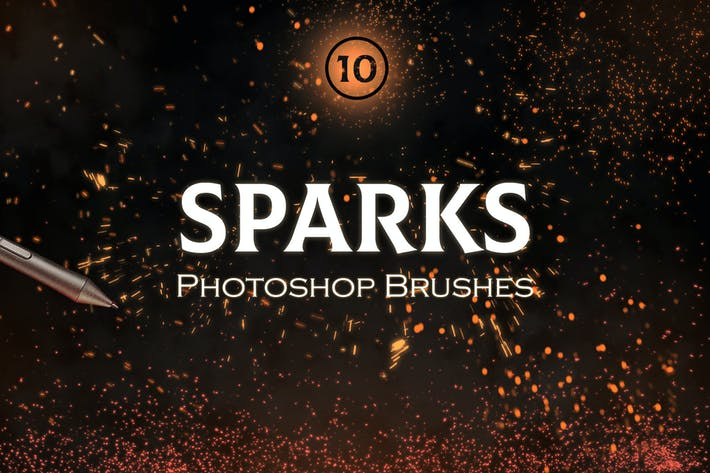 Thumbnail for Sparks Photoshop Brushes