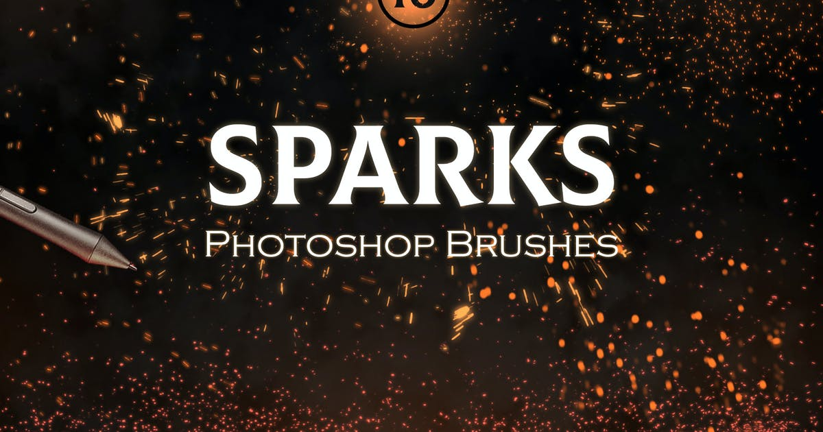 Download Sparks Photoshop Brushes by FreezeronMedia